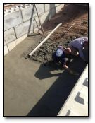 Tough going as the concrete workability could only be low due to the slope